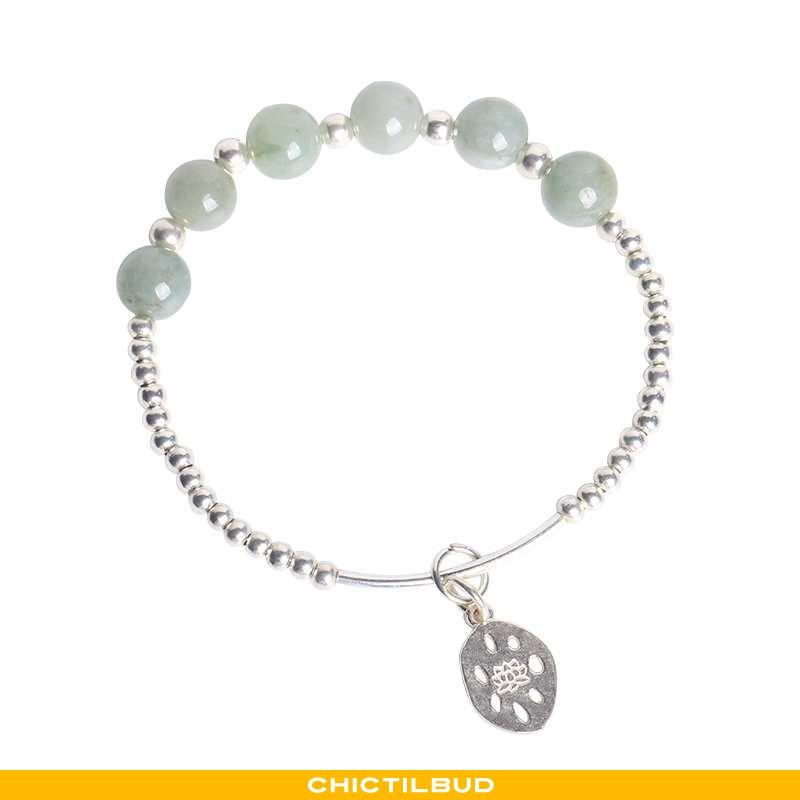 Armbånd Dame Sølv Naturlig Blå