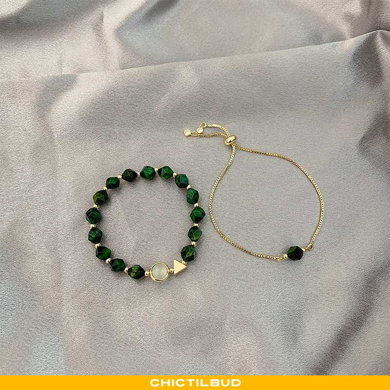 Armbånd Dame Vintage Grøn