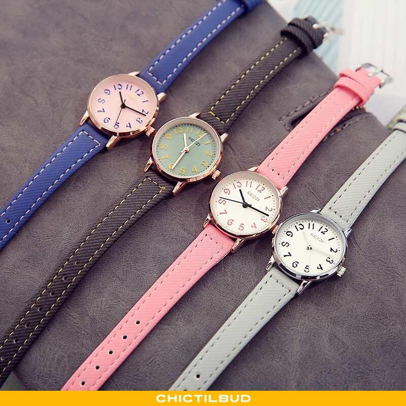 Armbåndsur Dame Læder Trend Ur