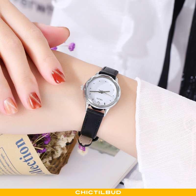 Armbåndsur Dame Mode Lille Sektion Sort