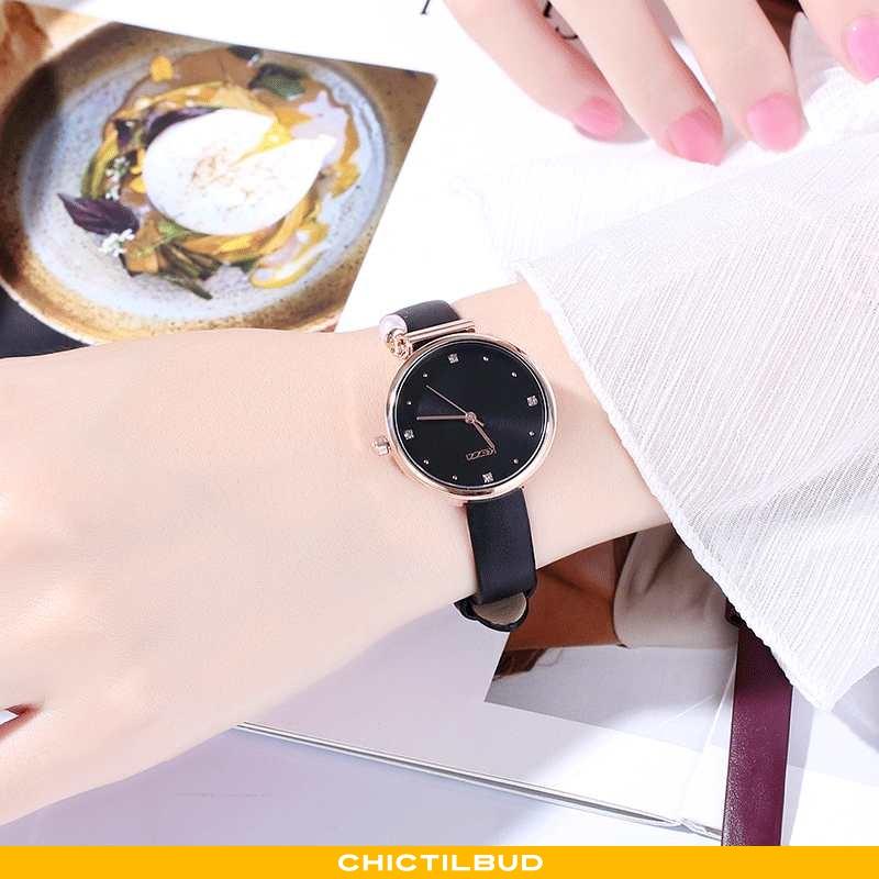 Armbåndsur Dame Mode Ny Sort