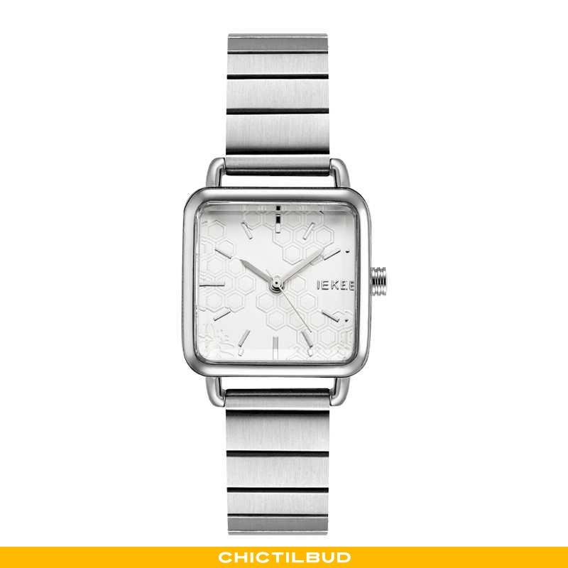 Armbåndsur Dame Mode Simple Sølv