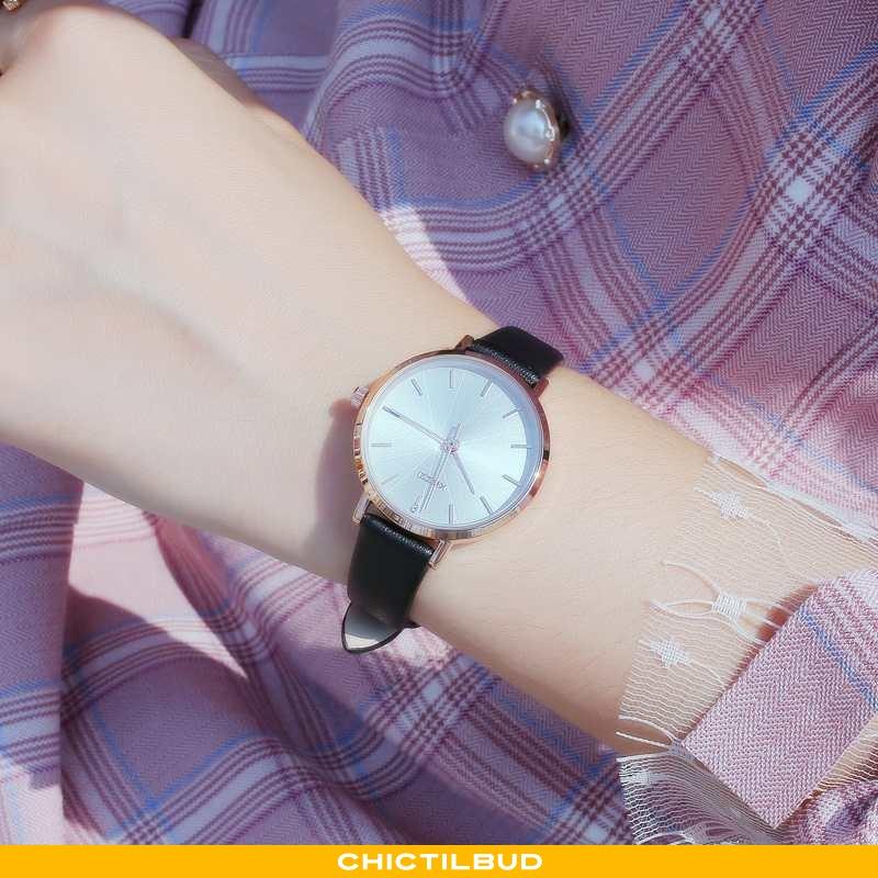 Armbåndsur Dame Sort