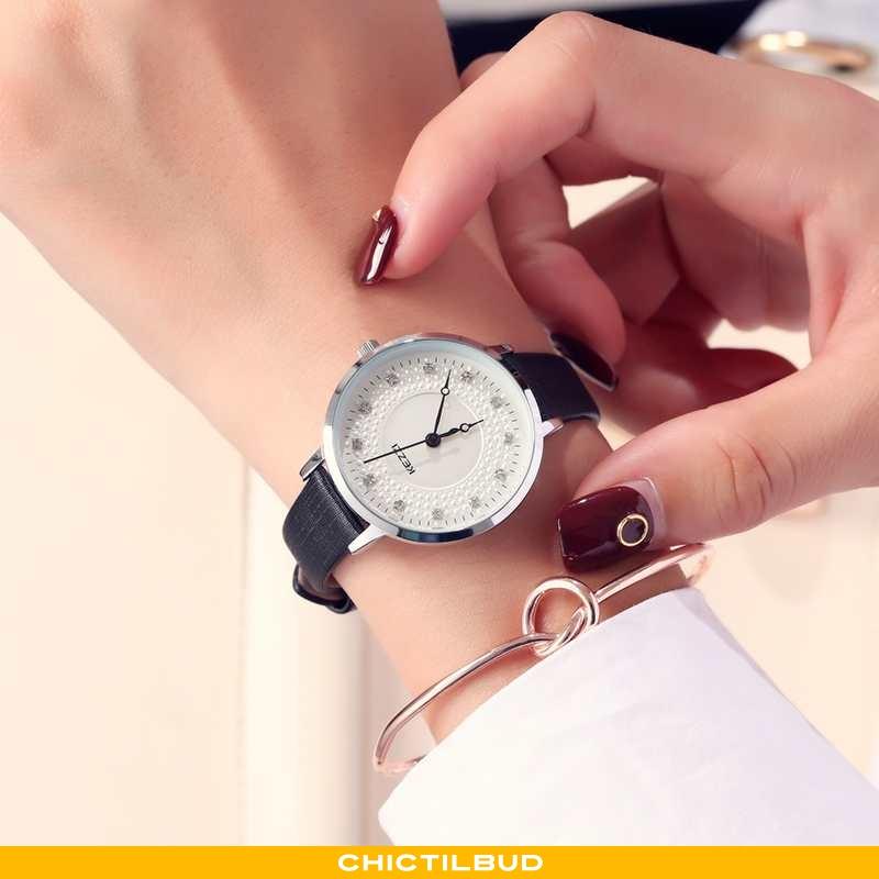 Armbåndsur Dame Trend Lilla Sort