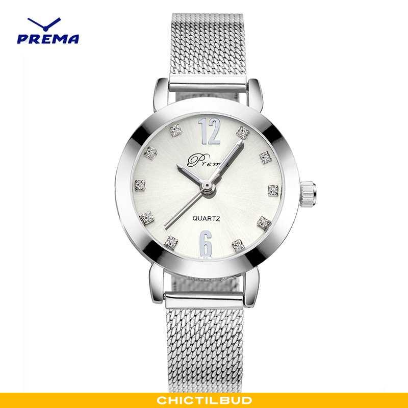 Armbåndsur Dame Trend Mesh Sølv