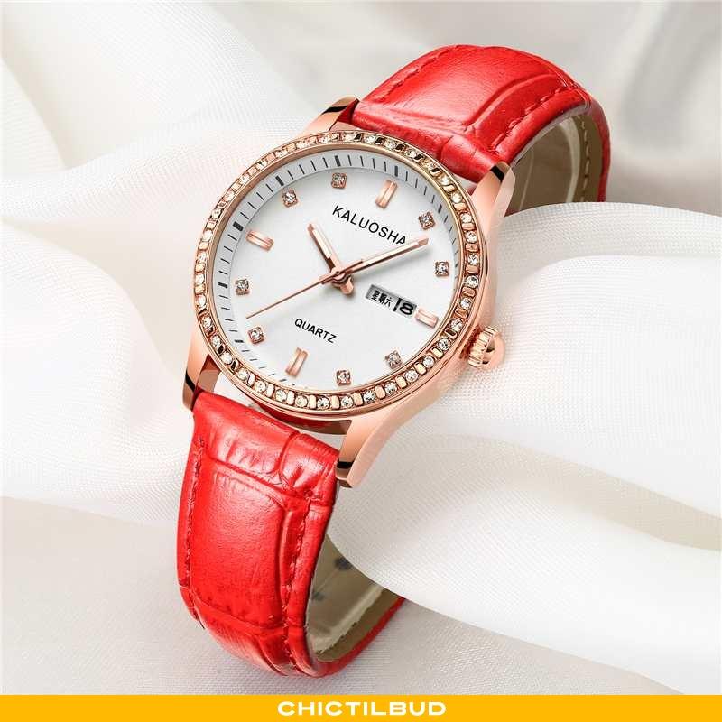 Armbåndsur Dame Vandtætte Elegante Rød
