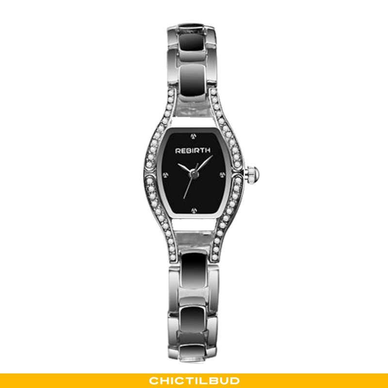 Armbåndsur Dame Vintage Firkantet Sølv