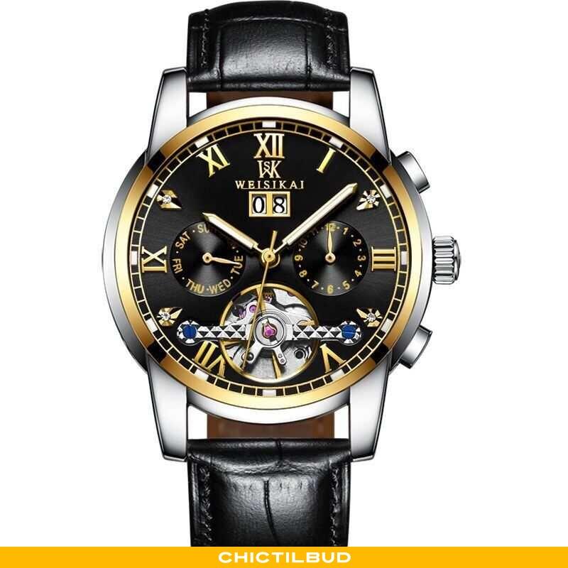 Armbåndsur Herre Blonder Automatisk Guld