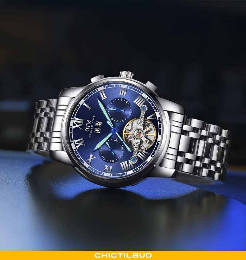 Armbåndsur Herre Sølv Ny