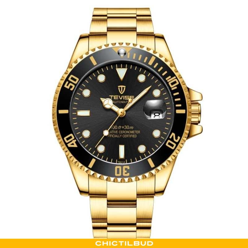 Armbåndsur Herre Trend Studerende Guld