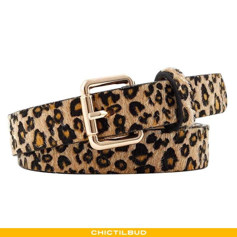 Bælte Dame Cowboybukser Læder Leopard Simple