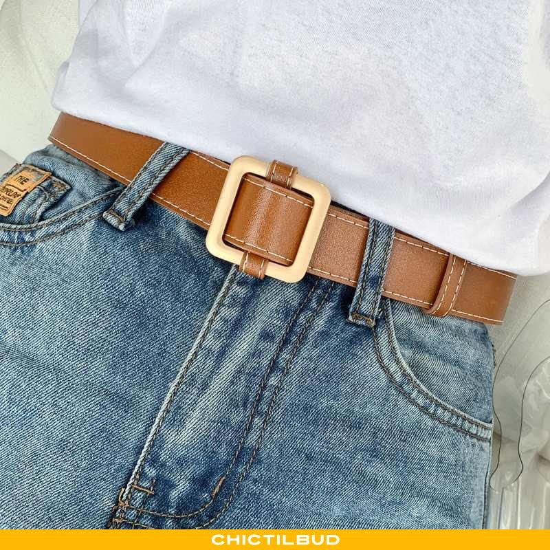 Bælte Dame Cowboybukser Læder Trend Alt Matcher