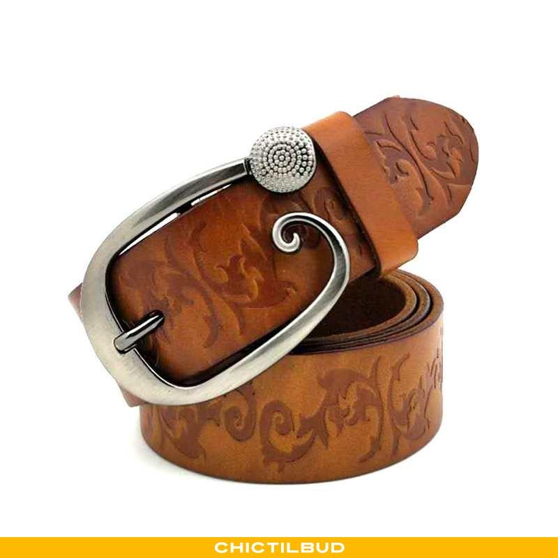 Bælte Dame Cowboybukser Læder Vintage Bovini