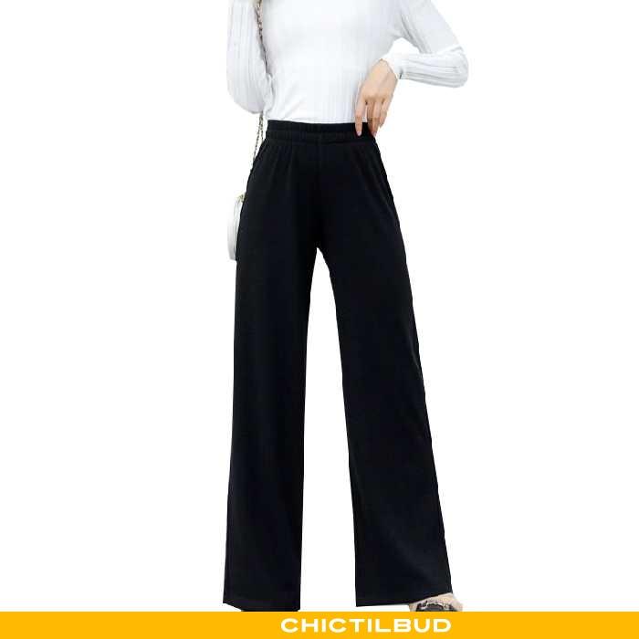 Bukser Dame Behagelige Hver Dag Sort