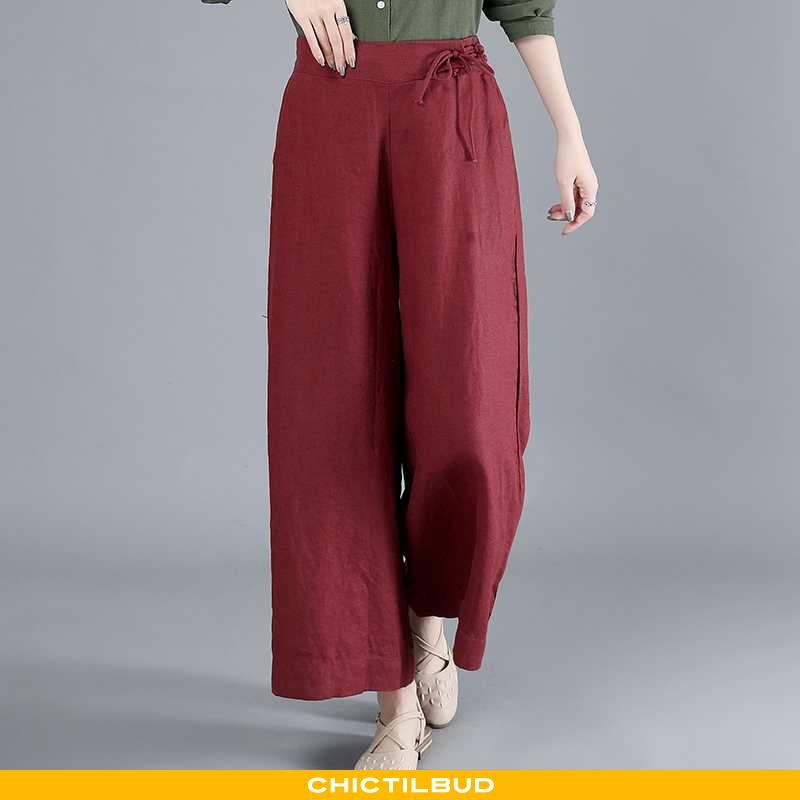 Bukser Dame Behagelige Ren Rød