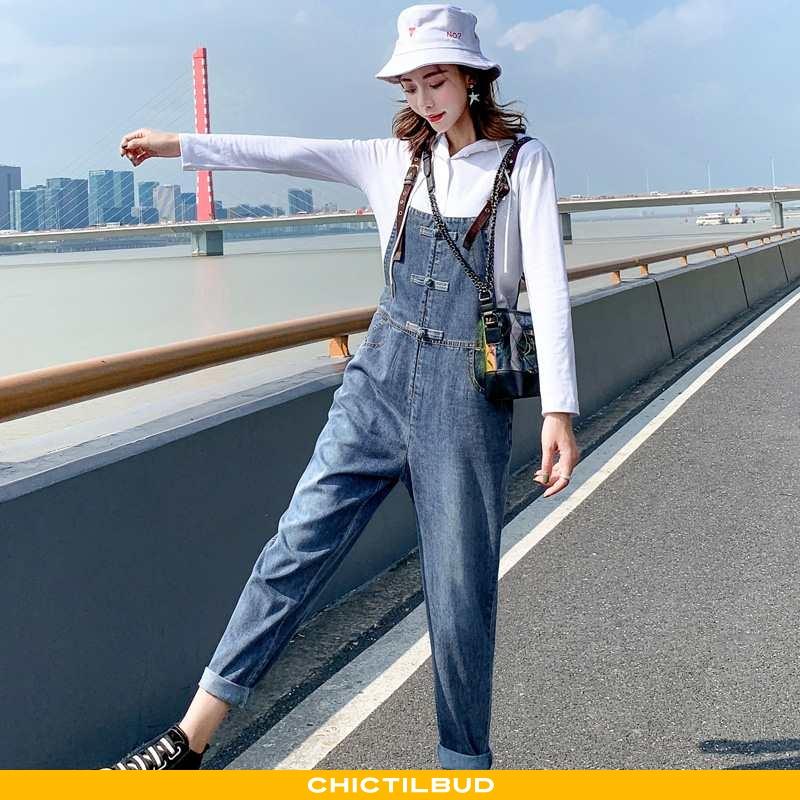 Bukser Dame Denim Mode Med Seler