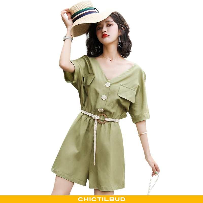 Bukser Dame Mode Simple Grøn