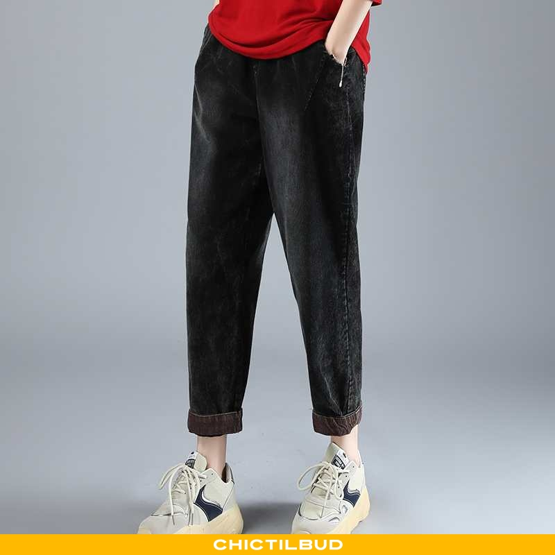 Bukser Dame Trend Elegante Sort