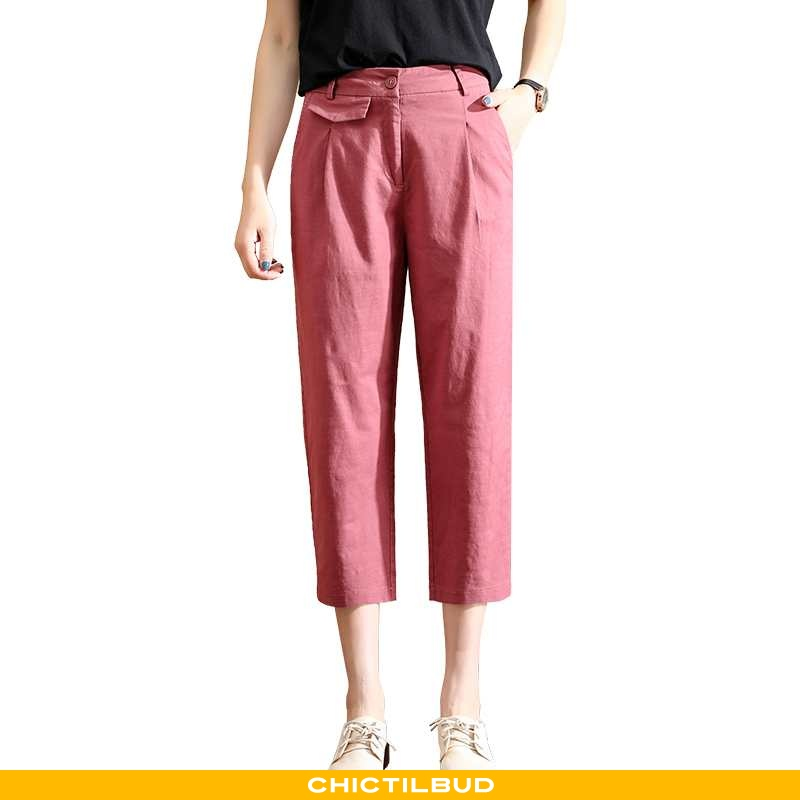 Bukser Dame Trend Rød