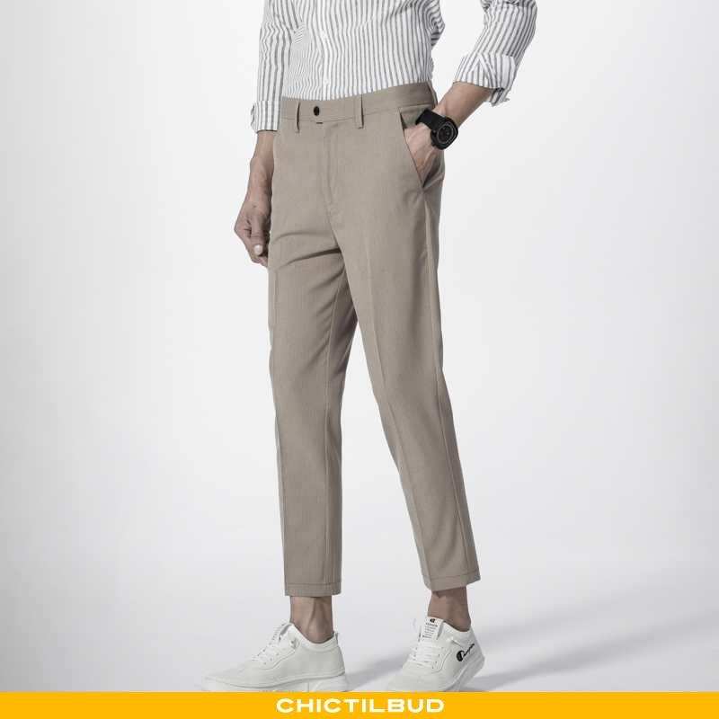Bukser Herre Casual Bukser Skinny Khaki