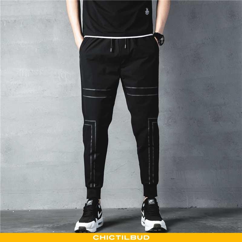 Bukser Herre Casual Bukser Skinny Sort