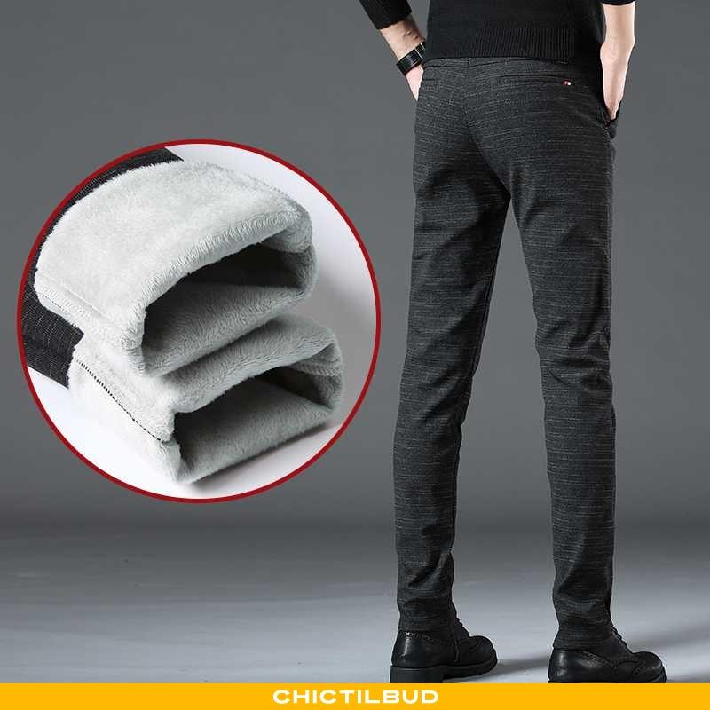 Bukser Herre Casual Bukser Straight Plus Cashmere
