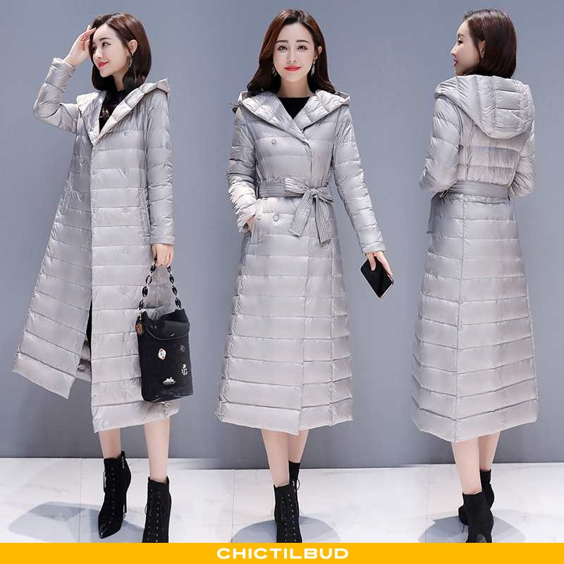 Dunjakke Dame Frakke Mode Stramme