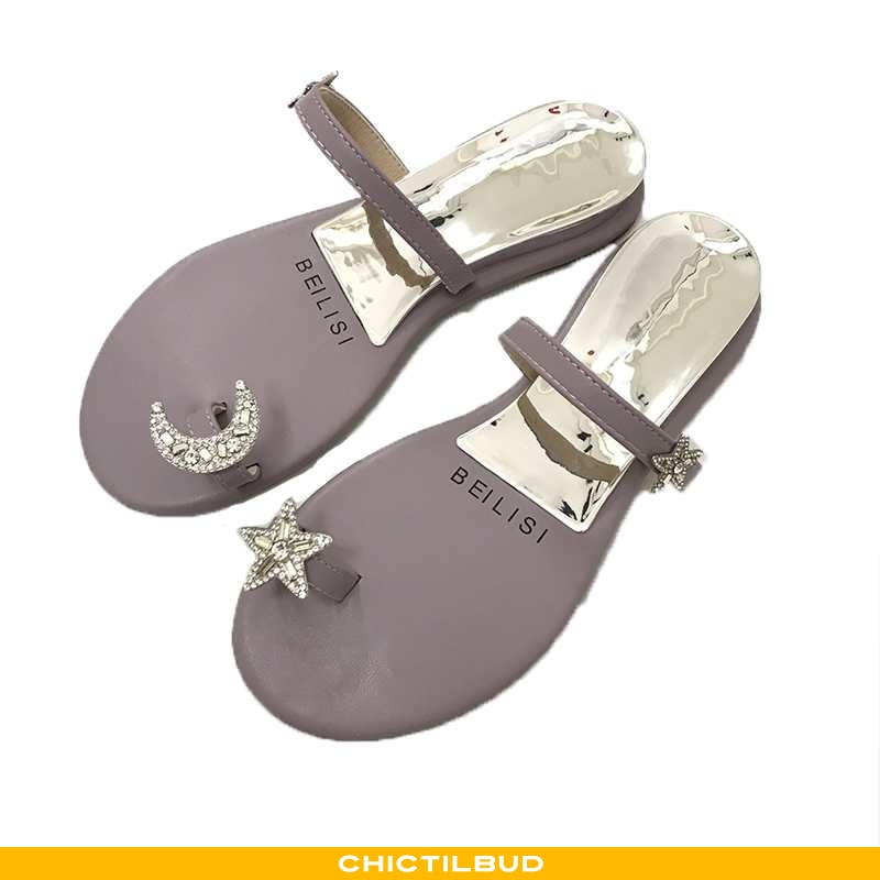 Flip Flop Dame Hjemmesko Mode Perle