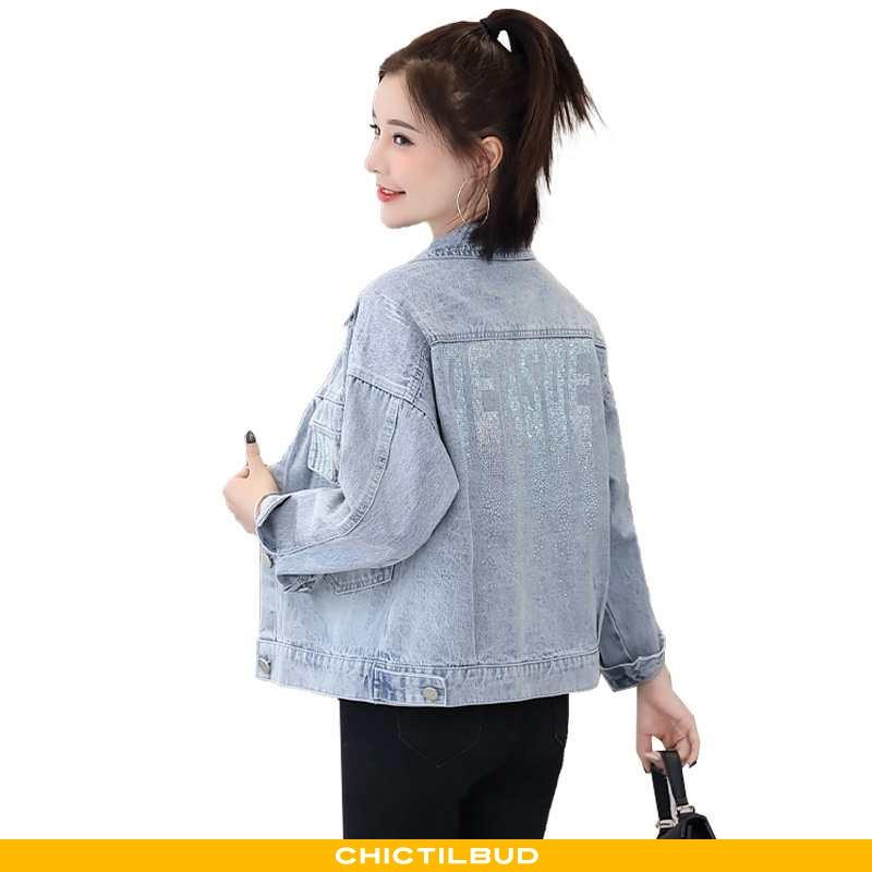 Frakke Dame Denim Casual 2020