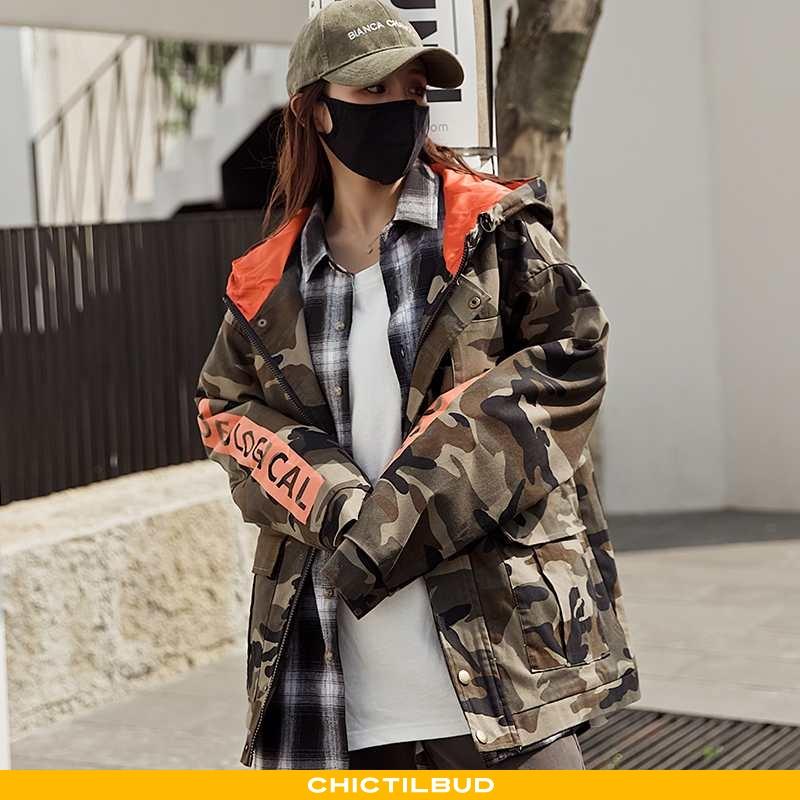 Frakke Dame Trend 2021 Camouflage