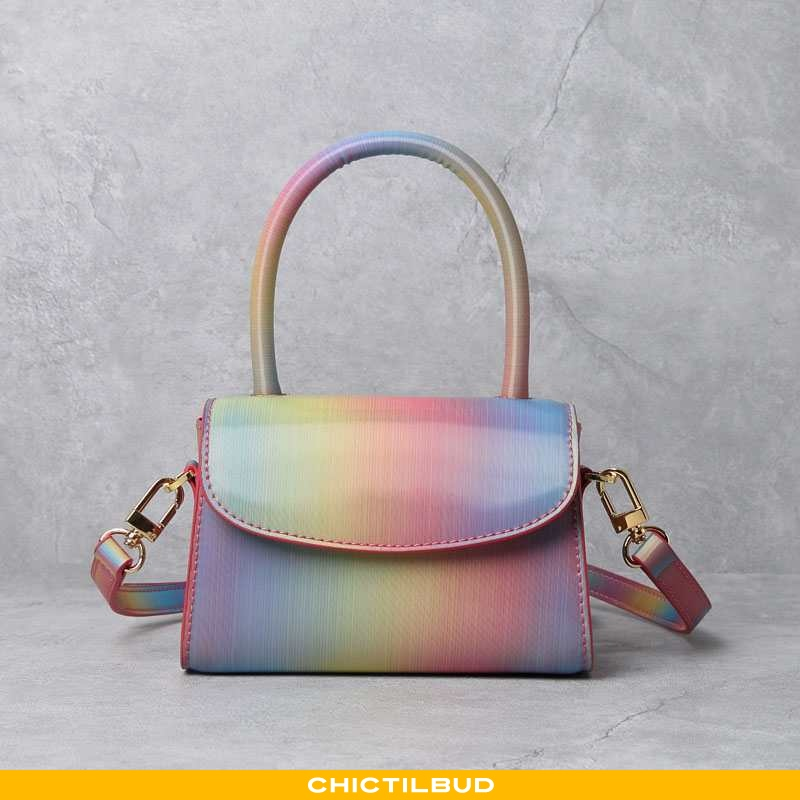 Håndtaske Dame Lille Sektion Farvede