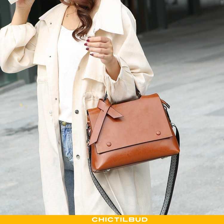 Håndtaske Dame Messenger Taske Læder Mode Ny