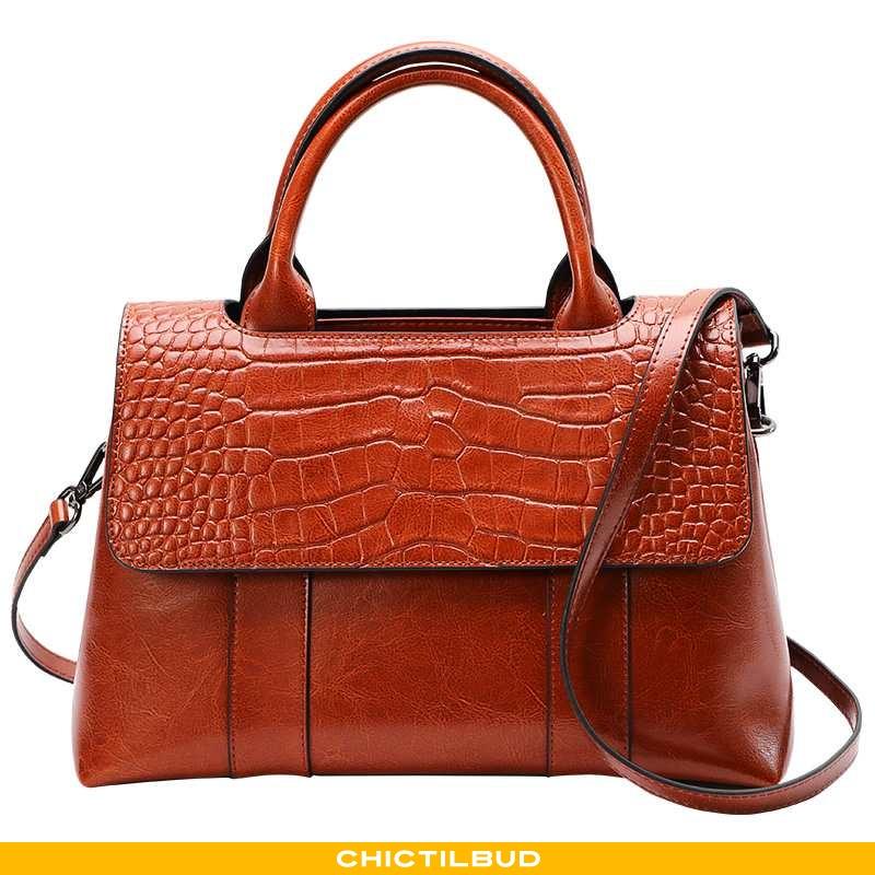 Håndtaske Dame Messenger Taske Læder Stor Kapacitet