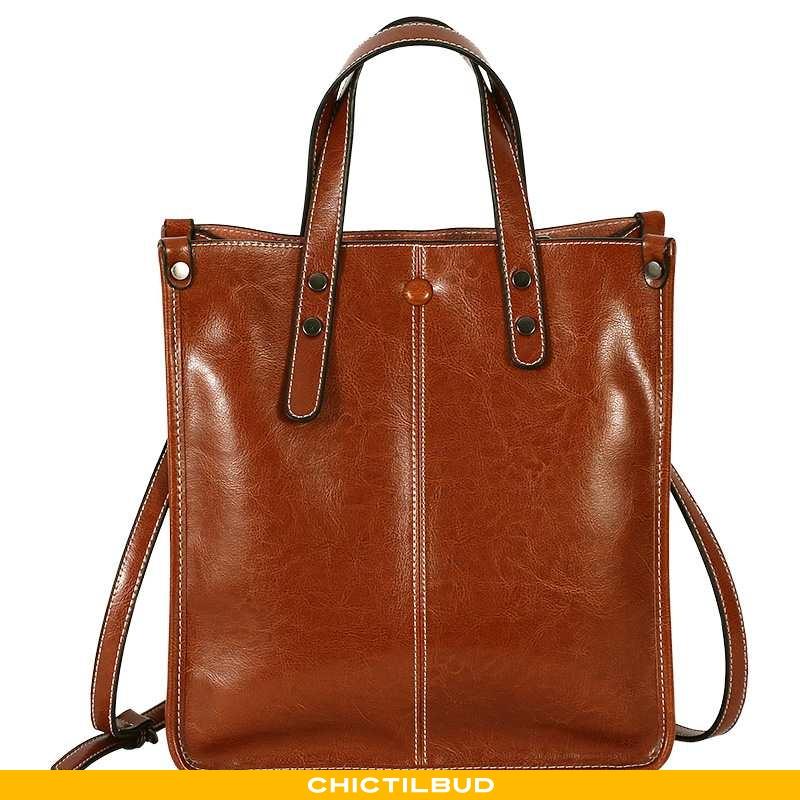 Håndtaske Dame Messenger Taske Læder Trend Arbejde