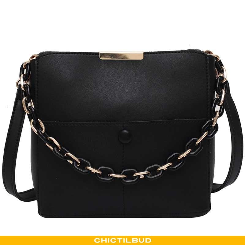 Håndtaske Dame Mode Simple Sort