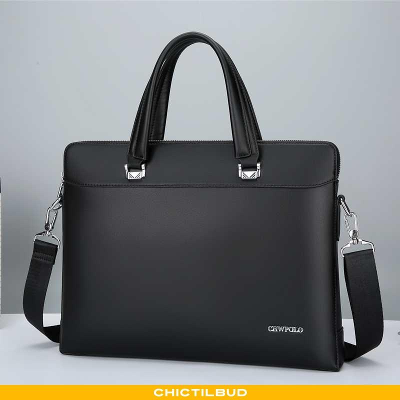 Håndtaske Herre Computertaske Læder Casual Mænd
