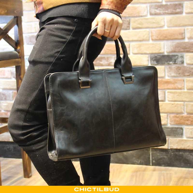 Håndtaske Herre Messenger Taske Læder Rejsetaske Bovini