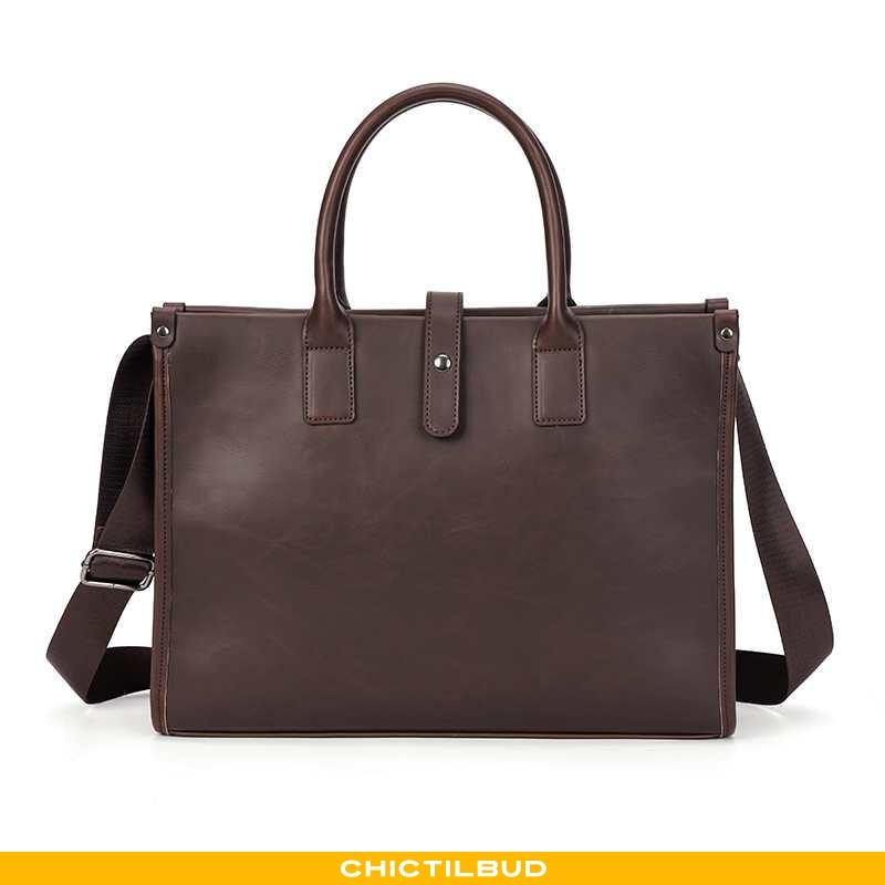 Håndtaske Herre Rejsetaske Læder Casual Forretningsrejse