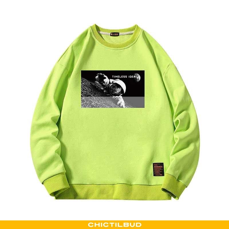 Hættetrøje Herre Casual Pullover Grøn