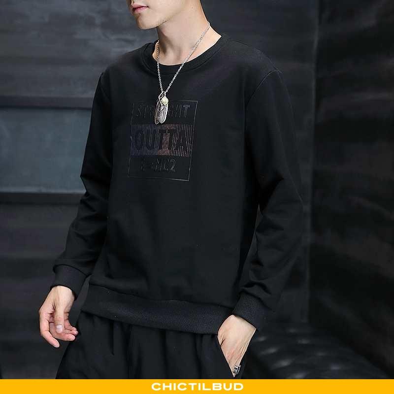 Hættetrøje Herre Langærmet T-shirt Trend Smuk