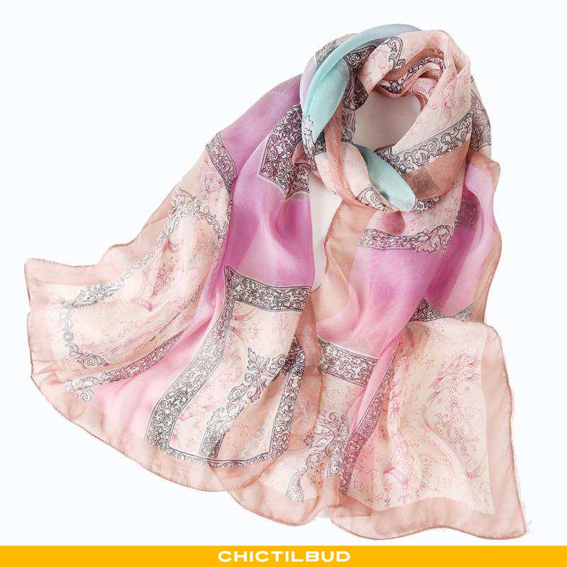 Halstørklæde Dame Silke Forårs Ren