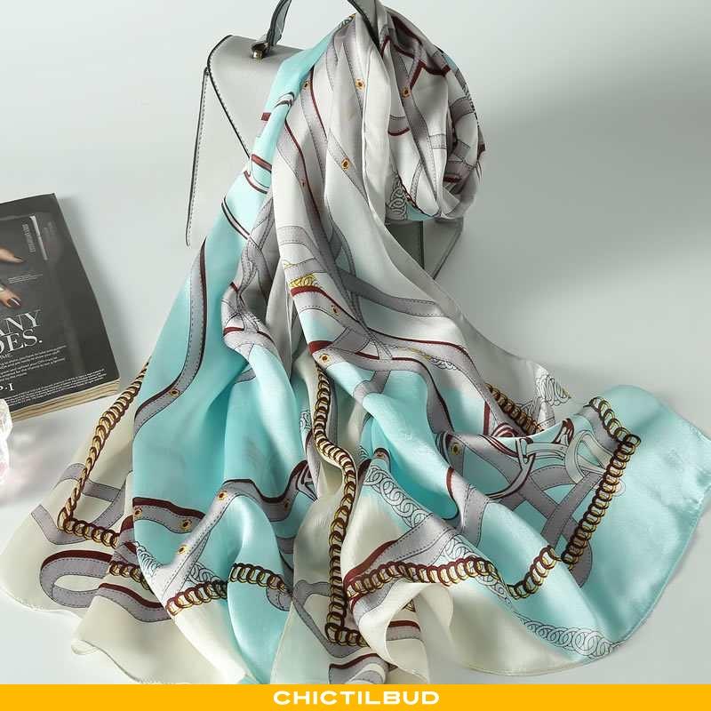 Halstørklæde Dame Silke Lang Europa