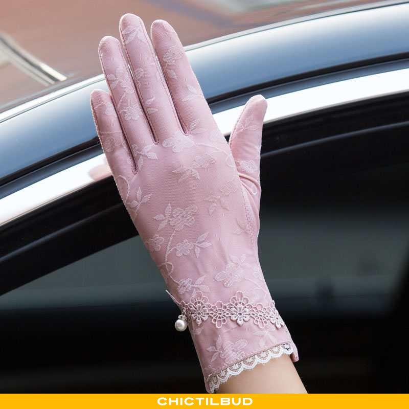 Handsker Dame Blonder Tynd Kvinder
