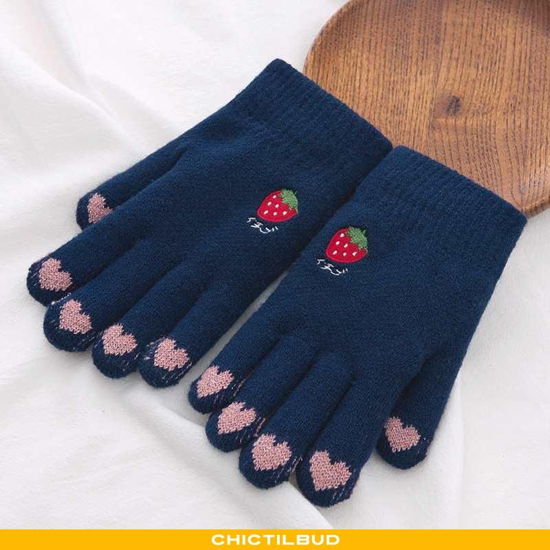 Handsker Dame Strikket Varm Kærlighed