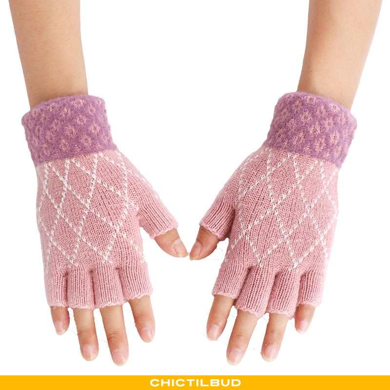 Handsker Dame Strikket Vinter Studerende
