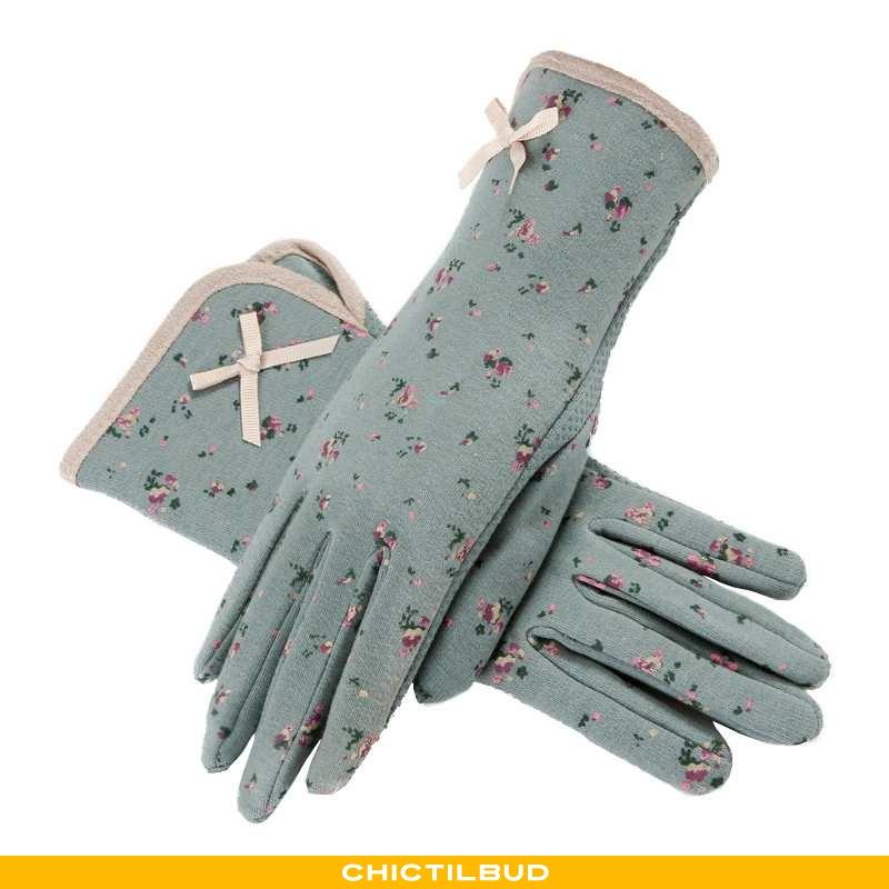Handsker Dame Tykke Blå