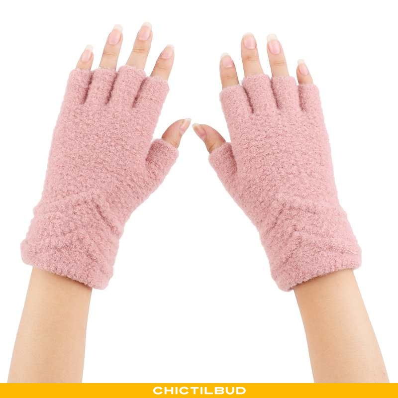 Handsker Dame Vinter Studerende Lyserød