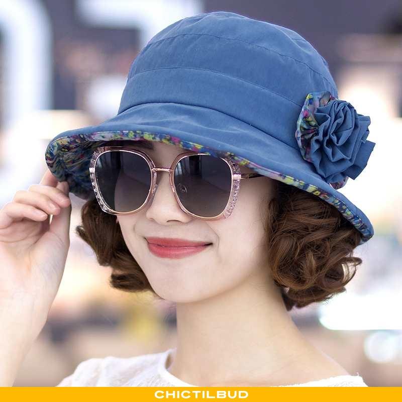 Hue Dame Mode Fashionabel Kjole Blå