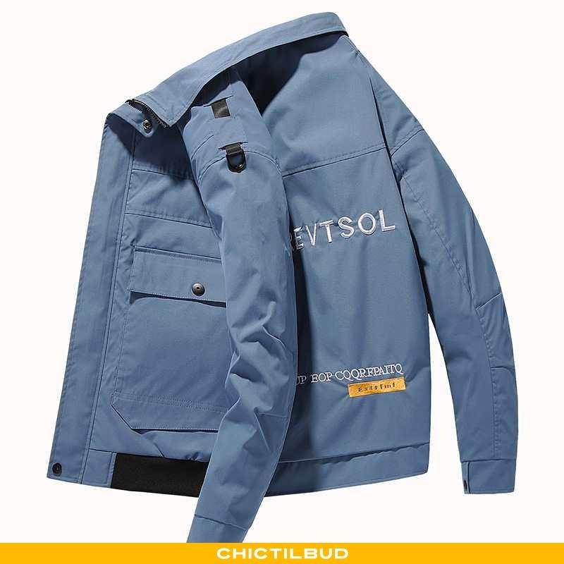 Jakke Herre Mode Ny Blå