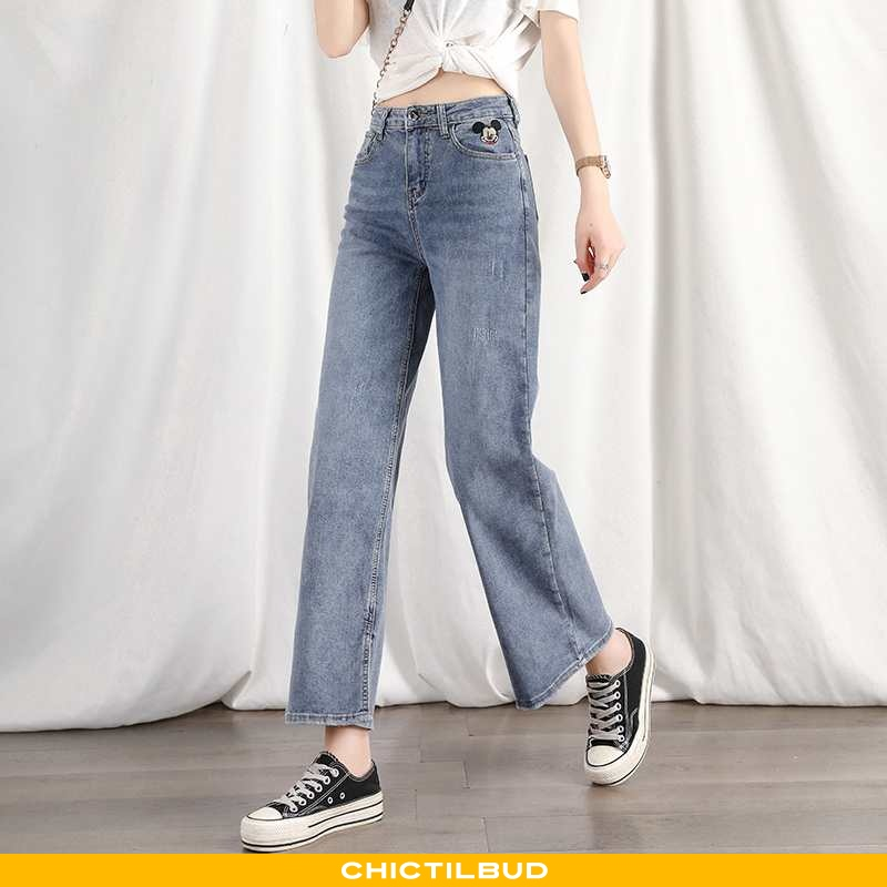 Jeans Dame Cowboybukser Højtaljet 2020